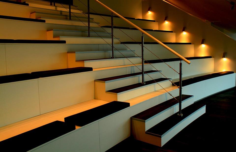 lumière escalier